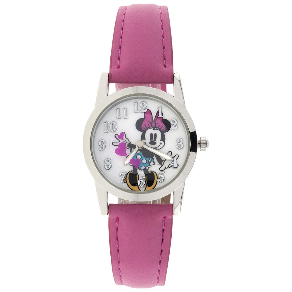 Disney Minnie Mouse Bright Pink Analog Watch