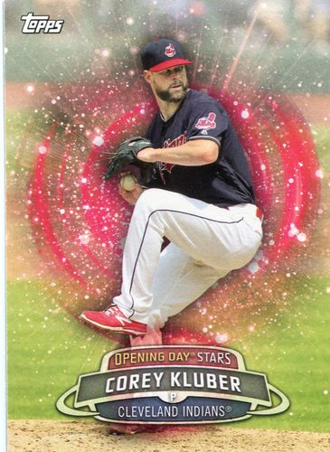 Photo of 2017 Topps Opening Day Opening Day Stars Corey Kluber -- Indians post-season