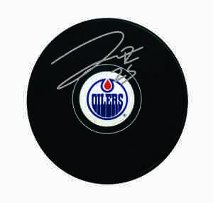 Darnell Nurse - Signed Edmonton Oilers Logo Puck