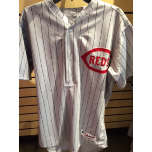 Photo of Michael Lorenzen - Game-Used Throwback Jersey and Pants from 1916 Turn-Back-The-Clock Game at Wrigley Field