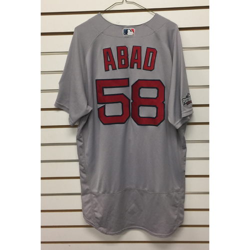 Photo of Fernando Abad Game-Used September 28, 2016 Road Jersey