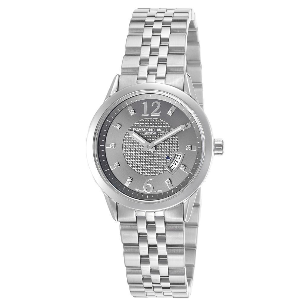 New Raymond Weil RW5670-ST-05645 Women's Freelancer Stainless Steel Grey Dial