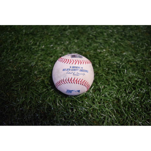 Photo of Game-Used Baseball: Alcides Escobar double off Blake Snell