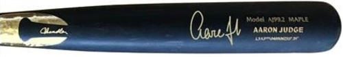 Photo of Aaron Judge Autographed Game Model Chandler Bat