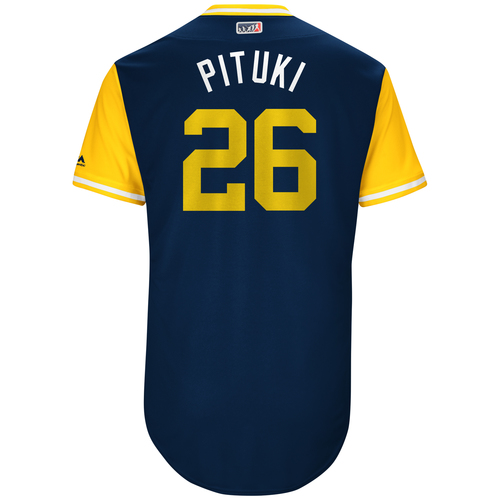 "Photo of Yangervis ""Pituki"" Solarte San Diego Padres Game-Used Players Weekend Jersey"
