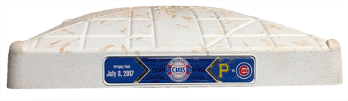Game-Used 2nd Base -- Cubs vs. Pirates -- 7/8/17 -- Used Innings 5 through 9