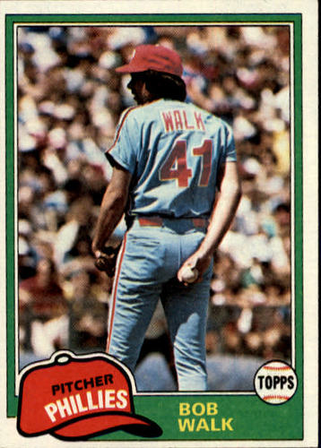 Photo of 1981 Topps #494 Bob Walk RC