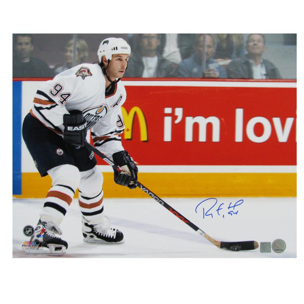 RYAN SMYTH Signed Edmonton Oilers 16 X 20 Photo - 79023