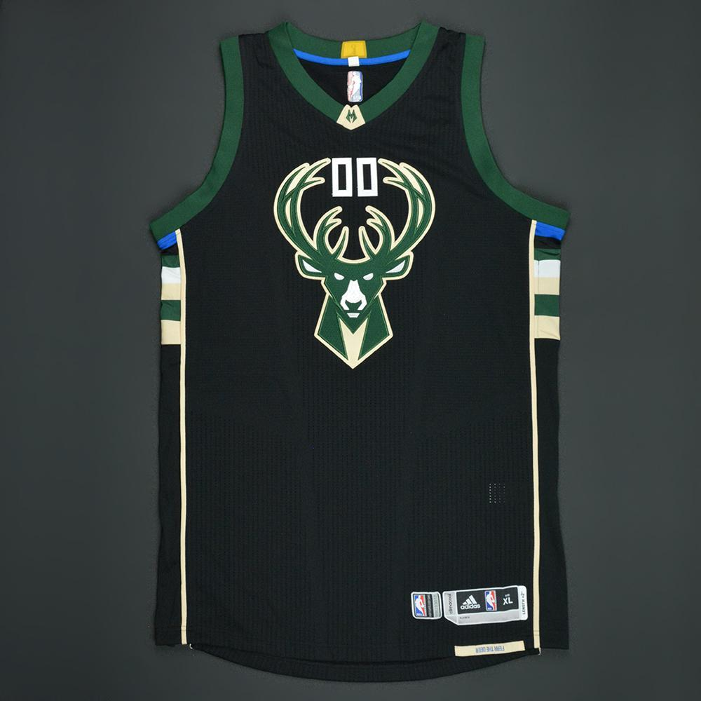 Spencer Hawes - Milwaukee Bucks - Black Playoffs Game-Worn Jersey - 2016-17 Season