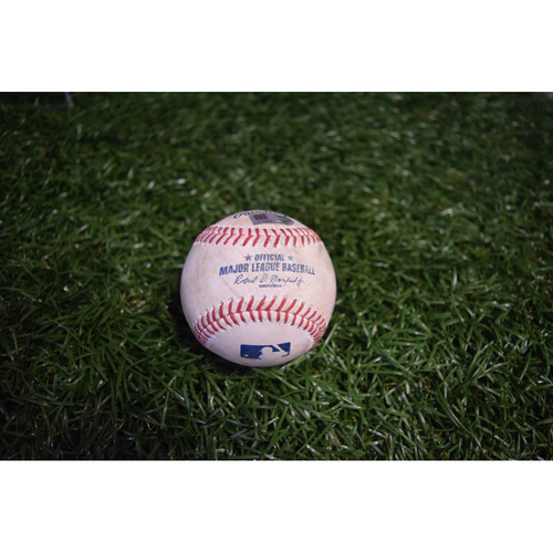 Photo of Game-Used Baseball: Eric Hosmer single off Austin Pruitt