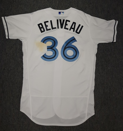Photo of Authenticated Game Used Father's Day Jersey - #36 Jeff Beliveau (June 18, 2017)
