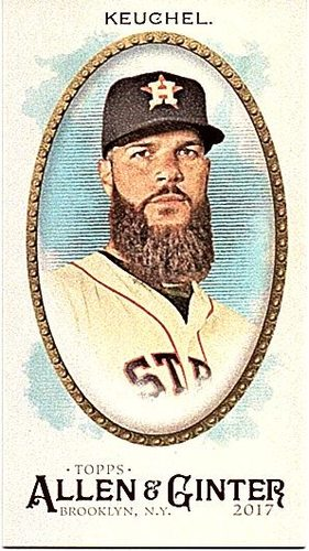 Photo of 2017 Topps Allen and Ginter Mini Brooklyn Back #333 Dallas Keuchel 2/25