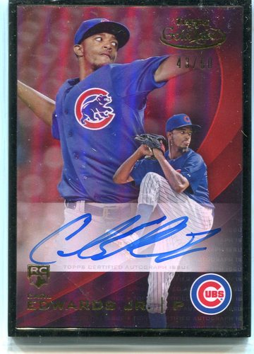 Photo of 2016 Topps Gold Label Autograph Black Frame Carl Edwards Jr. 43/50 -- Cubs post-season
