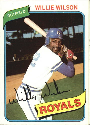 Photo of 1980 Topps #157 Willie Wilson DP