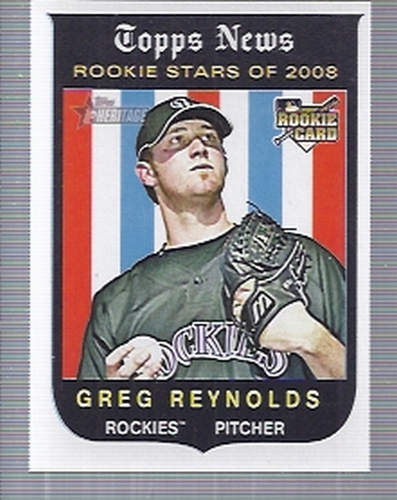 Photo of 2008 Topps Heritage #605 Greg Reynolds RC