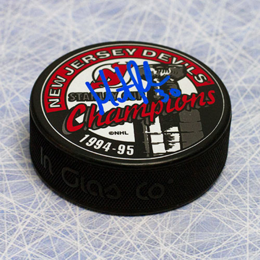 Martin Brodeur New Jersey Devils Autographed 1995 Stanley Cup Puck