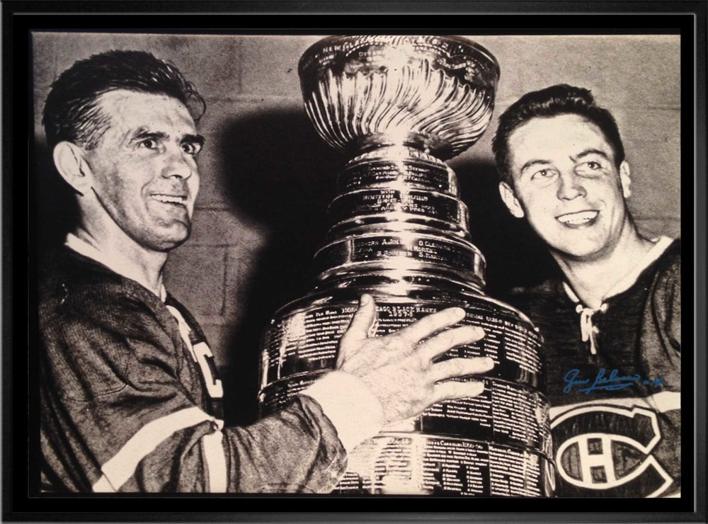 Beliveau,J Signed 20x29 Framed Canvas wRichard & Cup H
