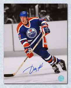 Jari Kurri Edmonton Oilers Autographed Spotlight 8x10 Photo