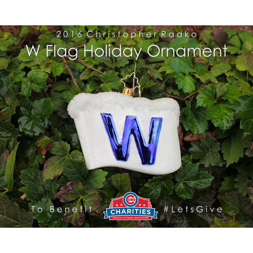 Photo of 2016 Christopher Radko W Flag Holiday Ornament