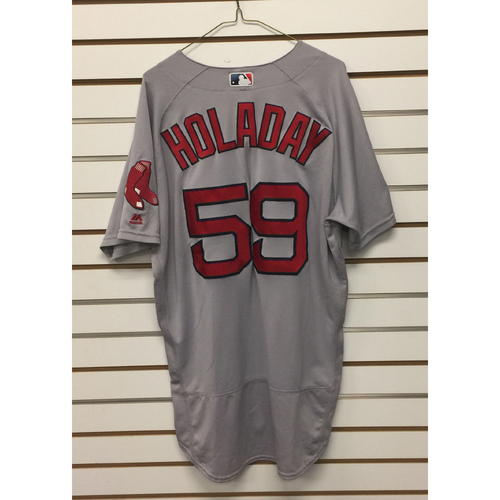 Photo of Bryan Holaday Game-Used September 28, 2016 Road Jersey
