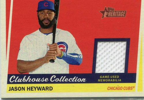 Photo of 2016 Topps Heritage Clubhouse Collection Relics Jason Heyward -- Cubs post-season