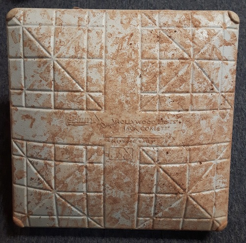 Photo of Authenticated Game Used Base - 2nd Base for Innings 1 to 3 (September 22-24, 2017). Final Homestand and Yankees clinched Postseason berth on September 23rd