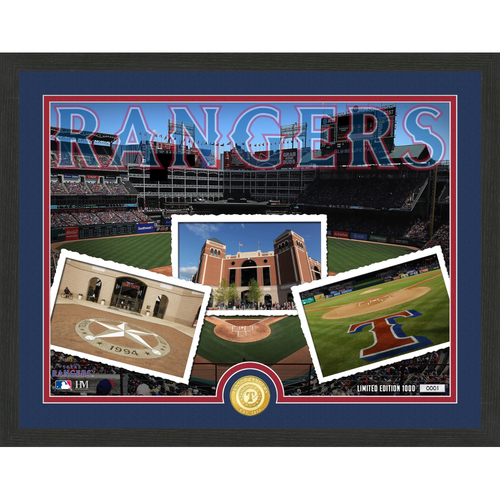 """Photo of Texas Rangers """"Team Pride"""" Bronze Coin Photo Mint - MLB.com Auctions Exclusive"""