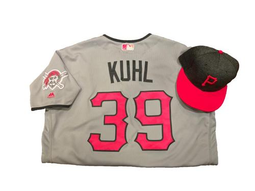 Photo of Chad Kuhl Game-Used Mother's Day Jersey and Hat