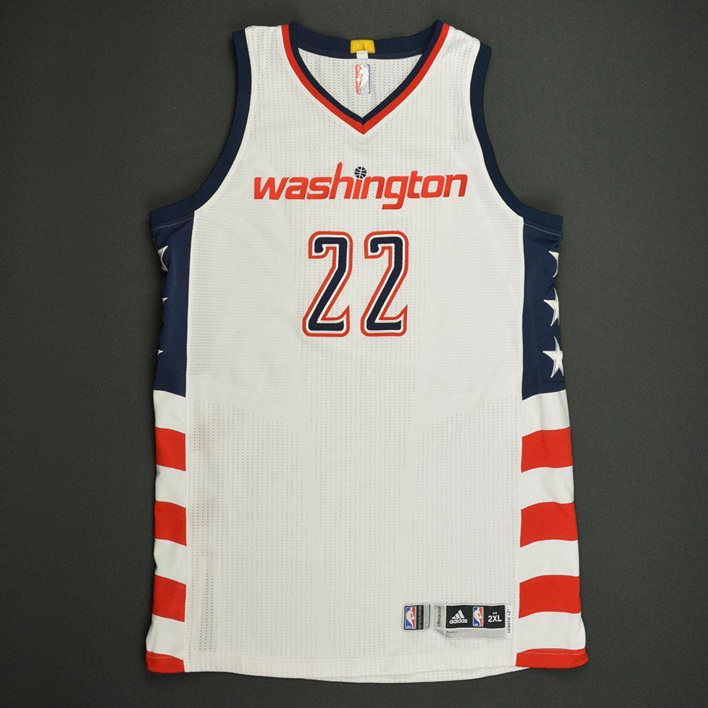 Otto Porter - Washington Wizards -White Playoffs Game-Worn Jersey - 2016-17 Season