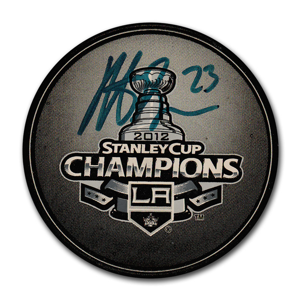 Dustin Brown Autographed Los Angeles Kings 2012 Stanley Cup Champions Puck