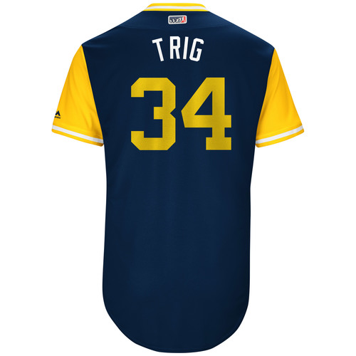 "Photo of Craig ""Trig"" Stammen San Diego Padres Game-Used Players Weekend Jersey"