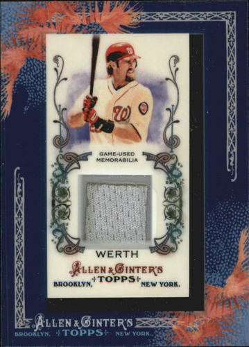 Photo of 2011 Topps Allen and Ginter Relics #JW Jayson Werth -- Nationals post-season