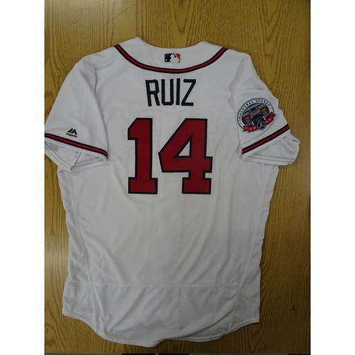Photo of Rio Ruiz Game-Used Los Bravos Jersey - Worn 9/17/17 at SunTrust Park
