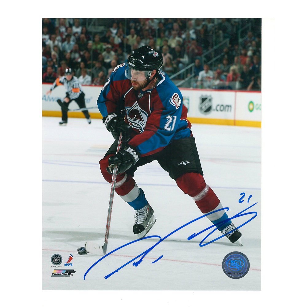 PETER FORSBERG Signed Colorado Avalanche 8 X 10 Photo - 70246