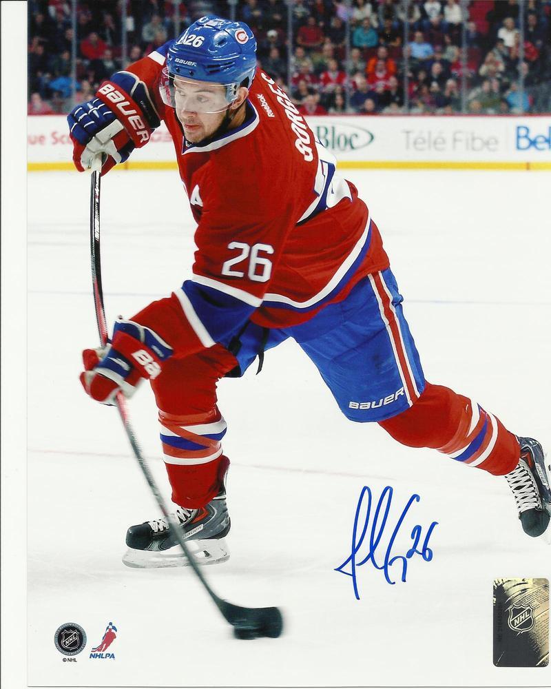 Josh Gorges Signed Montreal Canadiens SLAPSHOT 8x10