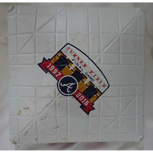 Photo of Game-Used Second Base Used During the Final Inning at Turner Field