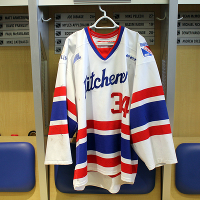 #34 Luke Richardson 2016-17 Warm-up Jersey