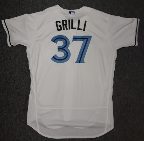 Photo of Authenticated Game Used Father's Day Jersey - #37 Jason Grilli (June 18, 2017)