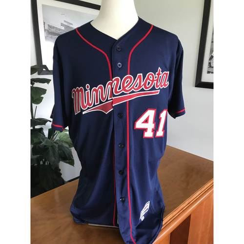 Photo of Minnesota Twins - 2017 Team-Issued Spring Training Jersey Grab Bag Navy