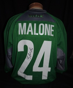 Carolina Hurricanes Authentic Go Green Brad Malone #24 Jersey