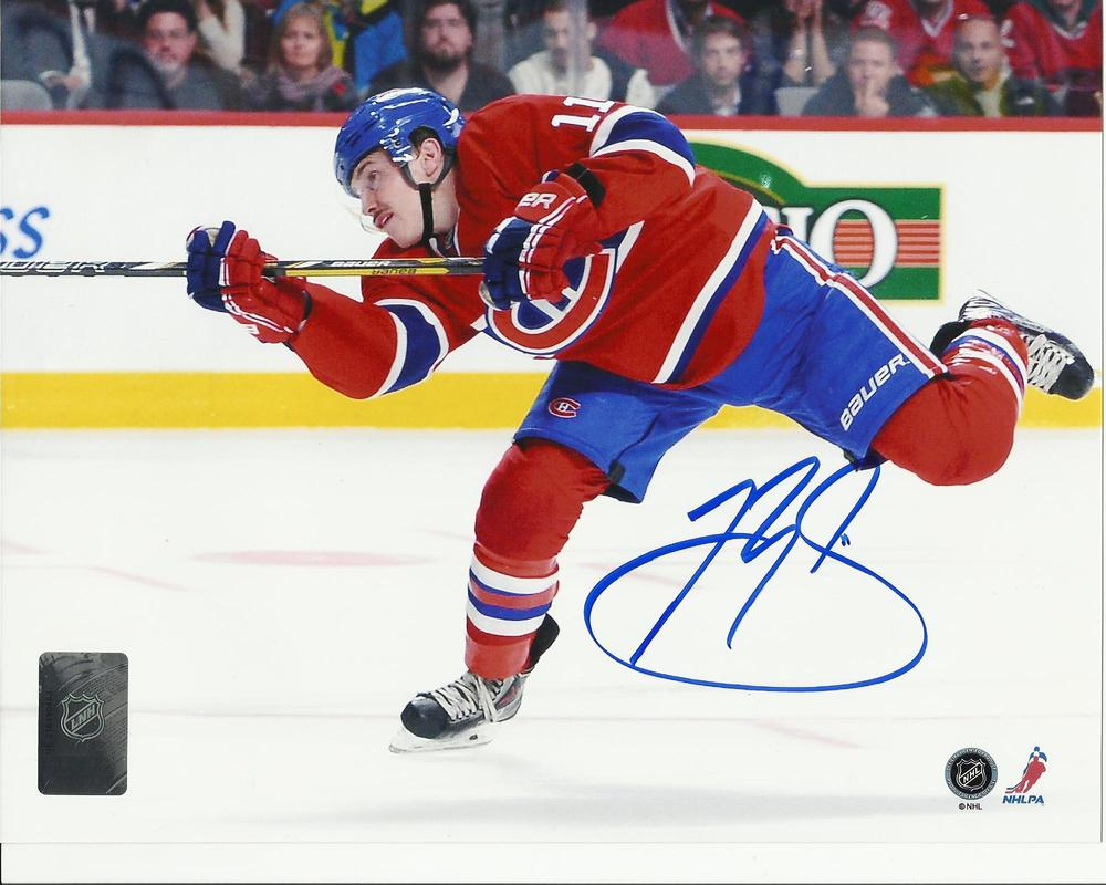 Brendan Gallagher Signed Montreal Canadiens Slapshot 8x10