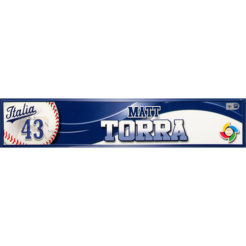 Photo of 2013 World Baseball Classic: Matt Torra (ITA) Game-Used Locker Name Plate