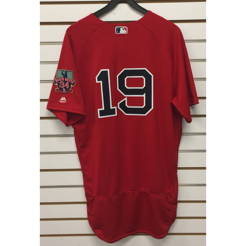 Photo of Koji Uehara Game-Used September 30, 2016 Home Alternate Jersey with David Ortiz Final Season Patch