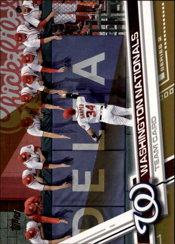Photo of 2017 Topps Gold #564 Washington Nationals Team Card