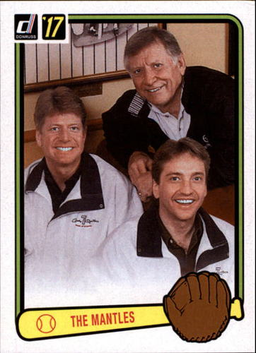 Photo of 2017 Panini Father's Day #MM The Mantles Mickey Mantle Danny Mantle David Mantle