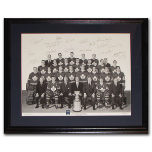 1967 Toronto Maple Leafs Team-Signed Limited-Edition 16X20 Framed Lithograph