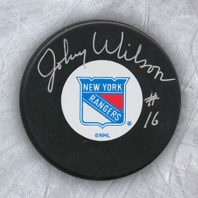 JOHNNY WILSON New York Rangers Autographed Hockey Puck