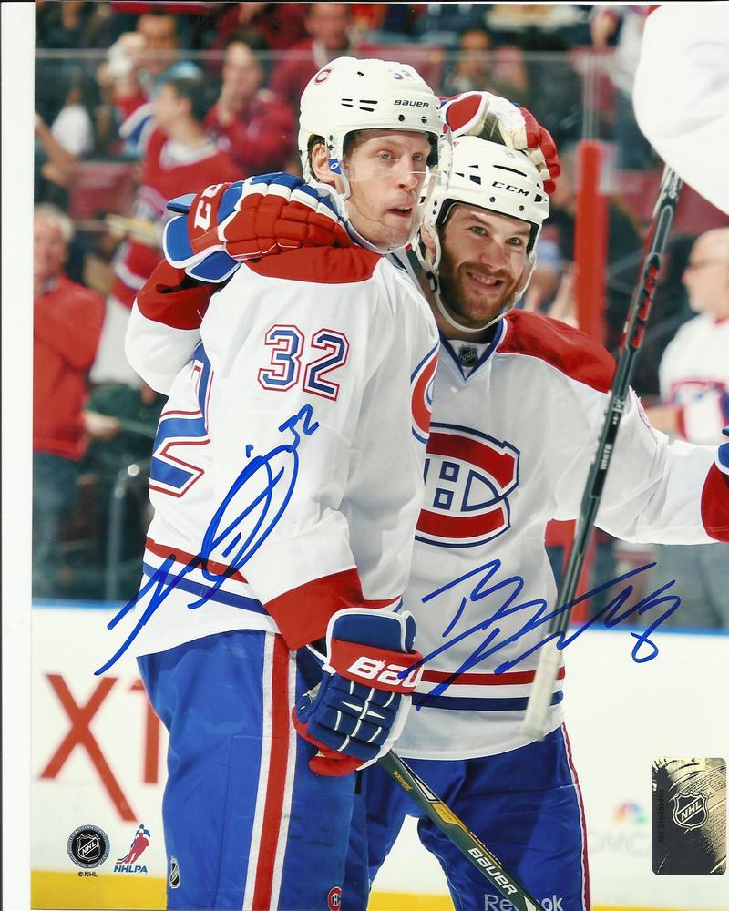 Brandon Prust & Travis Moen DUAL Signed Montreal Canadiens CELEBRATION 8x10