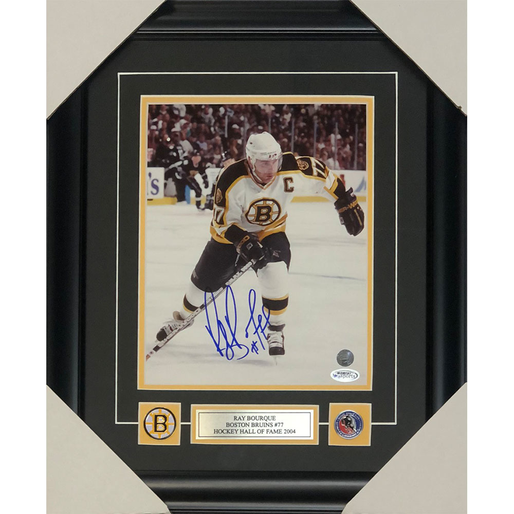 Ray Bourque Autographed Boston Bruins Framed 8X10 Photo