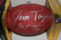 HOF - PACKERS JIM TAYLOR SIGNED AUTHENTIC FOOTBALL